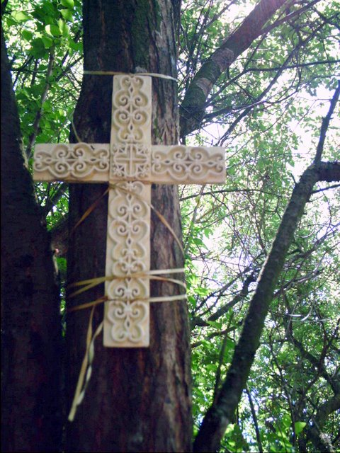 Another Cross in memory of a Molidorf family - July 9, 2008<br>Click to enlarge