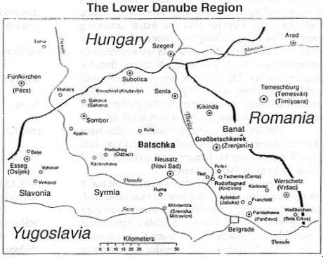 Map Lower Danube