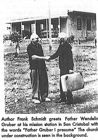 Frank Schmidt and Father Wendelin Gruber